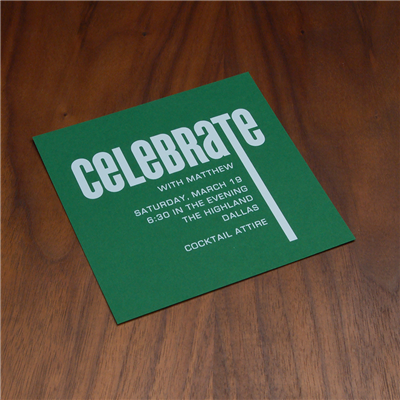 Lime Lane Party Card