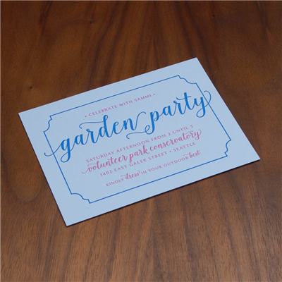 Blue Belle Party Card